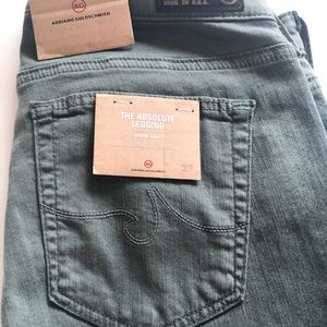 Ag Adriano Goldschmied Pants - Brand new AG Adriano Goldschmied army green jeans